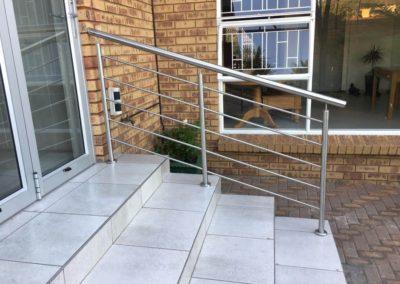 Stainless Steel Pool Grab Rail installed by DeeFive Trading